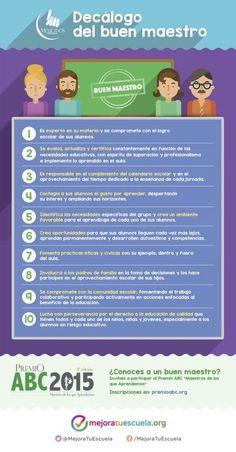 Decálogo del Buen Maestro | Aprendiendoaenseñar | Scoop.it