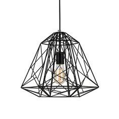 LNC Black Iron Painting Modern Home Ceiling Light Fixture Mini Pendant LNC Shade(Bulbs Not Included)