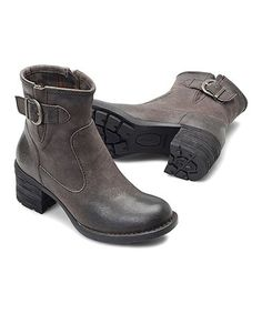 Another great find on #zulily! Gray Distressed Gunn Leather Bootie - Women #zulilyfinds