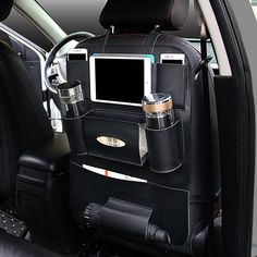 Big sale US $10.71  Multi-function Car Back Seat Organizer Beverage Storage Bag Stowing Tidying Tablet Phone Holder Container Interior Accessories