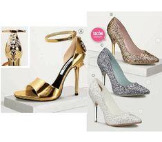 6a72790d Zapatillas con finos detalles de pedrería. Calzado en color oro y plata de  la marca