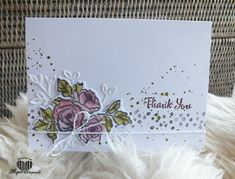 Magical Scrapworld: Thank you, cards, petal palette, stampin' blends, Stampin' Up!