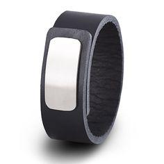 Wear Clint - Tuigleren armband (25mm / zwart) met RVS-sluiting. Een stoer design voor mannen en vrouwen! Rvs, Ready To Wear, How To Wear, Design, Fashion, Moda, Fashion Styles, Capsule Wardrobe