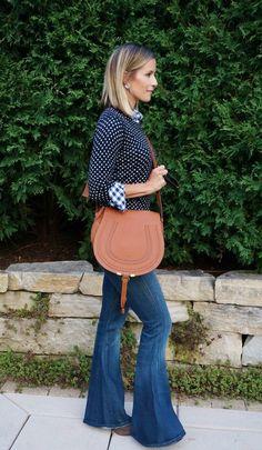 fall style // fall fashion // flare denim