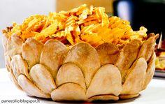Pane e olio ...: Cestino in pasta di pane