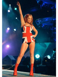 Performing with the Spice Girls, 1997   - TownandCountryMag.com