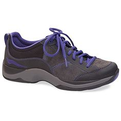 ca8bfd12b2 Dansko Women's Sabrina Walking Shoe Lace-up shoe in Scotchgard-treated  leather featuring mesh overlay and zig-zag stitching Contrasting sock liner  with ...