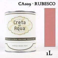 Krijtverf Creta et Aqua 1 Liter Rubesco Oud Roze - Verven zonder te schuren.