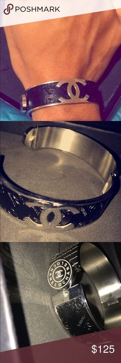 Flawless Blac CHANEL bracelet A flawless and rare CHANEL piece 😉 CHANEL Jewelry Bracelets