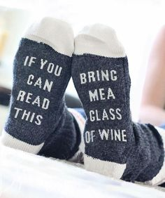 PLEASE BRING ME WINE Socks Made with an ultra comfy cotton material blend. For ladies sizes approx The perfect gift for the wine-lover in your life! Great gift for bridal parties, Christmas stockings! Calf Socks, Yoga Socks, Ankle Socks, Funny Socks, Silly Socks, In Vino Veritas, Slim Wallet, Leggings, Womens Fashion