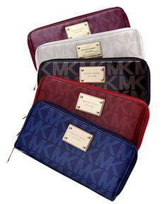 MICHAEL Michael Kors Handbag, Holiday Zip Around Continental Wallet - Shop All - Handbags & Accessories - Macy's  Web ID: 791638  Color: Sapphire  $102.99