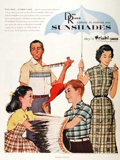 1956 ad.  Dad, smoking the Peace Pipe, smiling...