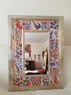 Porselen çalışmalarım 2016 Ayna cercevesi. Semra Yahya