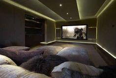 #homecinema #minicinema #theater I like this design the best.  It makes me feel warm