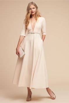 Where was this for my courthouse wedding?! BHLDN has upped their little white dress game