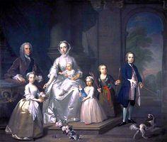 The Athenaeum - James Douglas, 14th Earl of Morton, and his Family (Jeremiah Davison - ) Scottish? - c. 1740
