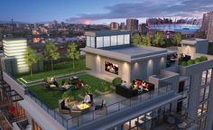 Keefer Block is not only amazing on the inside, but take a look at the rooftop amenities – outdoor movie theatre, fire pit, bbq kitchenette, community gardens, children's play area and more