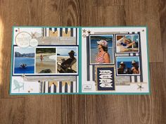 Layout made using CTMH No Worries paper pack and compliments. This weeks challenge at H2H is the Ribbon Challenge. I used CTMH's new Bu...