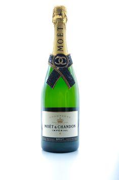 Moët and Chandon Chanel Bedazzled Champagne Bottle Moet Chandon, Luxury Branding, Bottles, Champagne, Chanel, Drinks, Instagram, Drinking, Beverages