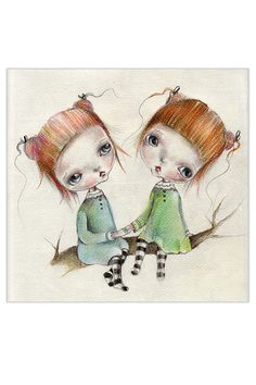 original+drawing..mixed+media+on+fine+art+paper+by+ppinkydollsart,+$60.00