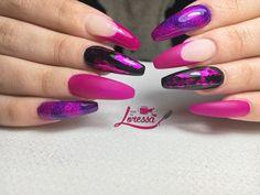 Black And Purple Nails, Nail Art, Beauty, Nail Arts, Beauty Illustration, Nail Art Designs