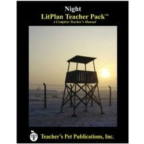 LitPlan Teacher Pack For Night--Complete unit of study; open and teach. Includes study questions, vocabulary, daily lessons with assignments & activities, unit tests, writing assignments, review materials...everything you need.