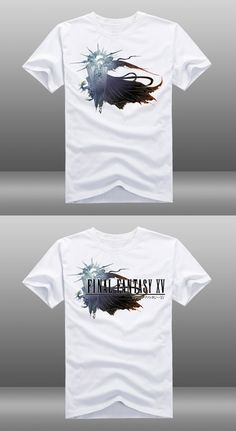 2ce93302729 2015 Mens Casual Game Final Fantasy XV White Cotton Short Sleeve O-Neck T-shirt  Tops Tee Shirts 3 Styles