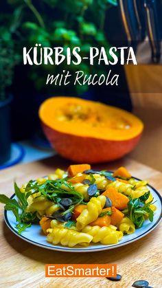 Pumpkin Pasta with Arugula Pumpkin Pasta, Eating For Weightloss, Vegetarian Recipes, Healthy Recipes, Fat Foods, Eat Smarter, Food Videos, Eating Habits, Good Food