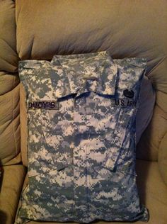 A personal favorite from my Etsy shop https://www.etsy.com/listing/209768353/military-uniform-pillow