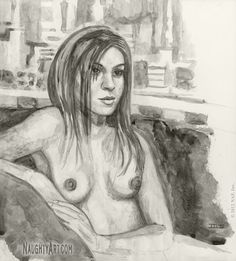 View figure drawings in ink wash of naked girls & life graphite drawings of erotic women. The fine art of rendering the nude female form in black & white. Graphite Art, Graphite Drawings, Life Drawing, Figure Drawing, Ink Wash, Girls Life, Figurative, Sketches, Watercolor