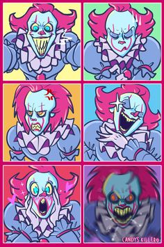 I don't think Pennywise likes vacuum cleaners. Cleaning time with Pennywise Arte Horror, Horror Art, Horror Movie Characters, Horror Movies, Clowns, Le Clown, Pennywise The Dancing Clown, Funny Horror, Mini Comic