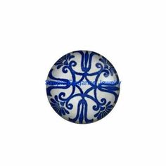 #2124 Blue Floral Snap 18mm for Snap Jewelry