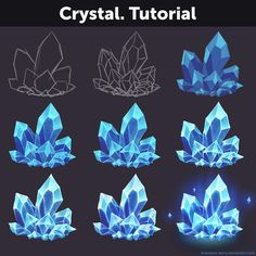 digital art rock tutorial: amethyst gem – Welcome Digital Painting Tutorials, Digital Art Tutorial, Art Tutorials, Crystal Drawing, Pin On, Art Design, Art Sketchbook, Art Techniques, Game Art