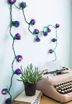 Light + flowers = best decor accessory.