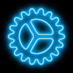 Logo Neon, Neon Azul, Blue Neon Lights, Snapchat Icon, Light App, Star Wars Icons, Clock Icon, Apple Icon, Iphone App Design