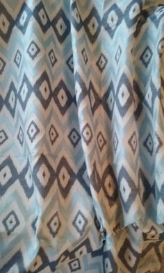 PAIR of window curtains window panels window drapes ikat curtains ...