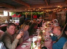Oatley Vineyard, Somerset UK. Kernling harvest supper, Oct 2009