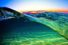 ocean wave at sunset...breathtaking