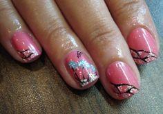 Pink+Nail+Art | Simple Pink Nail Art for Short Nails | Nail Art Ideas