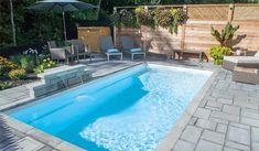 Pool f pool - fibro. Small Backyard Pools, Small Pools, Swimming Pools Backyard, Swimming Pool Designs, Backyard Landscaping, Rectangle Pool, Small Pool Design, Pool Fountain, Backyard Paradise