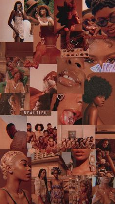 Pretty Girl Wallpaper, Pink Wallpaper Iphone, Iphone Background Wallpaper, Pretty Wallpapers, Black Girl Aesthetic, Brown Aesthetic, Aesthetic Collage, Aesthetic Backgrounds, Aesthetic Iphone Wallpaper