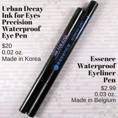 Splurge or Save? Urban Decay Ink for Eyes Waterproof Eye Pen vs. Essence Waterproof Eyeliner Pen