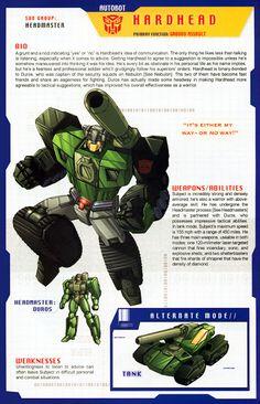Transformer of the Day: Hardhead