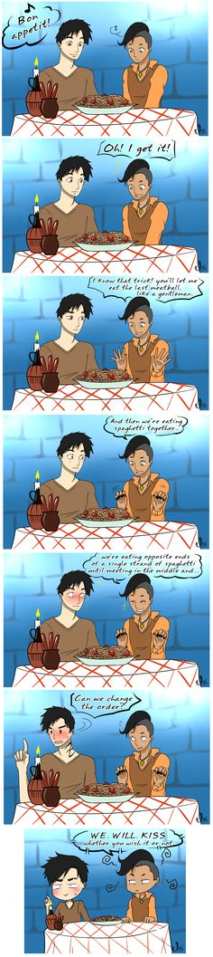 Lady and the Tramp Disney crossover ... From the hands off umkasandiary ... shadowhunters, alexander 'alec' lightwood, magnus bane, the mortal instruments, malec, Disney, crossover, lady and the tramp