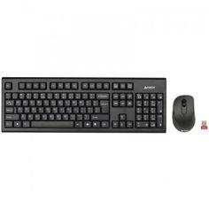 KIT Tastatura si Mouse Wireless A4tech 7100N, USB, Negru