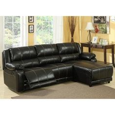 black leather reclining sofa with chaise | reclining-sectional-sofa-with-chaise.jpg