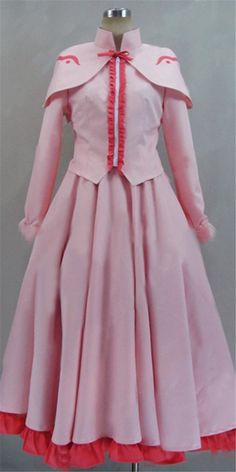 Relaxcos Akame Ga Kill! Raid Pink Color Long Dress Cosplay Costume ** For more information, visit image link.