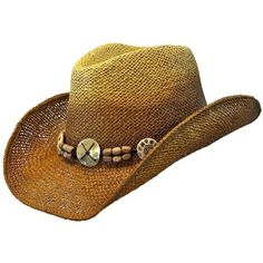 Two-Tone Toyo Western Cowboy Hat With Beaded Hatband ( 17) ❤ liked on 63dd6a2a3b9a