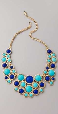 love colourful chunky necklaces