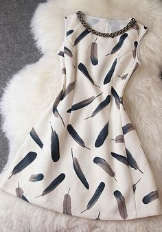 Feather print dress! Follow for more teen stuff! I follow back!